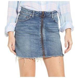 NWT Free People Zip It Up  Denim Skirt size 25